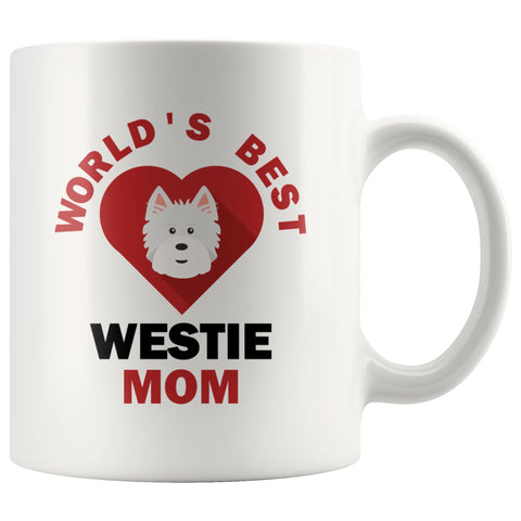 Image of Worlds Best Westie MOM Mug Drinkware teelaunch 11oz Mug