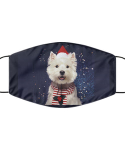 Christmas Westie Mask Mask Gearbubble