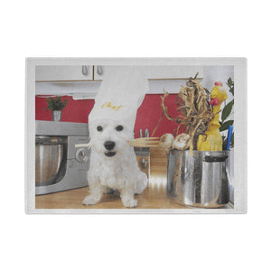Westie Chef - Westies Glass Chopping Board Cutting Boards teelaunch UK Supplier