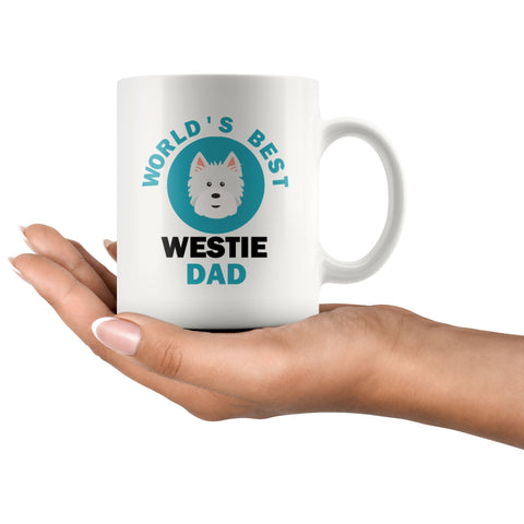 Image of World's Best Westie Dad Mug Drinkware teelaunch