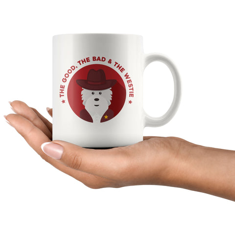 Image of The Good, The Bad and The Westie Mug Drinkware teelaunch