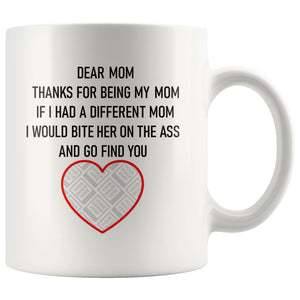 Dear Mum/Mom Personalised Funny Mug For Dog Mothers Personalized Drinkware teelaunch Dear Mom