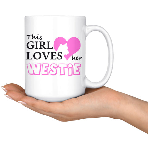 Image of This Girl Loves Her Westie Mug Drinkware teelaunch