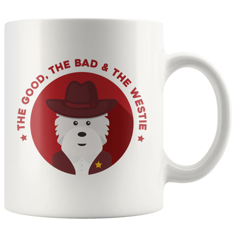 The Good, The Bad and The Westie Mug Drinkware teelaunch 11oz Mug