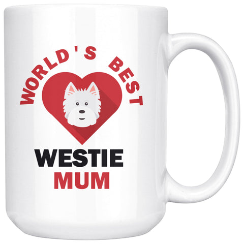 Image of World's Best Westie Mum Mug Drinkware teelaunch 15oz Mug