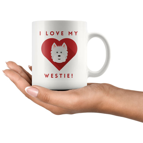 Image of I Love My Westie Mug Drinkware teelaunch