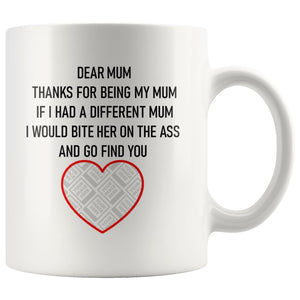 Dear Mum/Mom Personalised Funny Mug For Dog Mothers Personalized Drinkware teelaunch Dear Mum