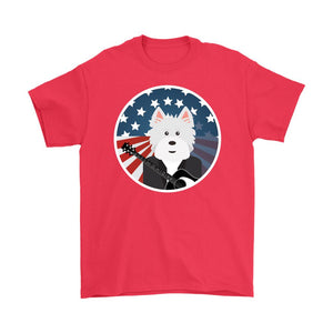 American Westie With a Guitar Softstyle T-shirt T-shirt teelaunch Gildan Mens T-Shirt Red S