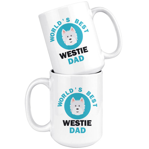 World's Best Westie Dad Mug Drinkware teelaunch
