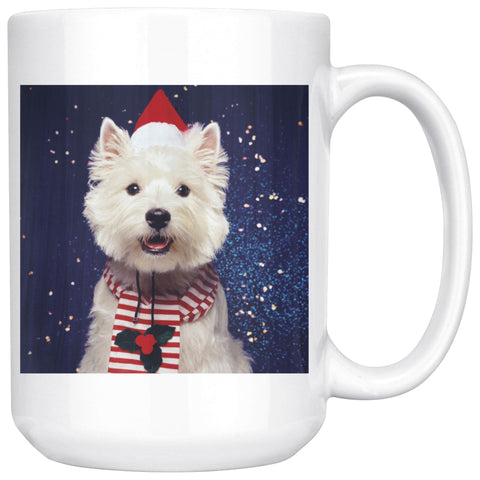Image of Christmas Westie Mug Drinkware teelaunch 15oz Mug
