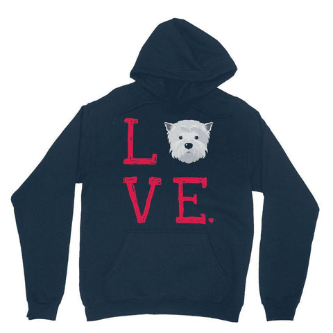 LOVE Westie Hoodie Apparel kite.ly XS Navy