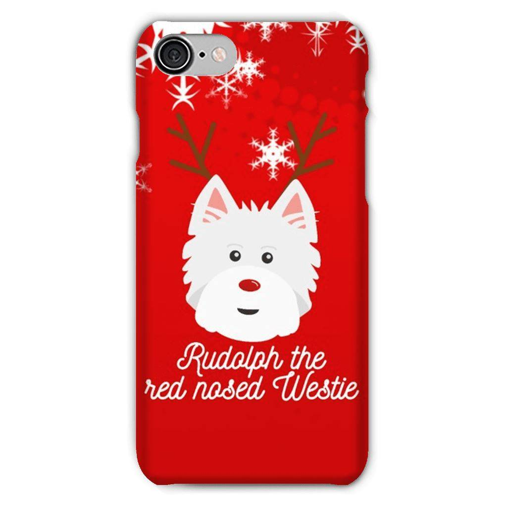 Rudolph The Red Nosed Westie Phone Case Phone & Tablet Cases kite.ly iPhone 7 Snap Case Gloss