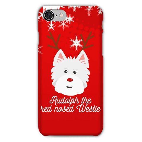 Image of Rudolph The Red Nosed Westie Phone Case Phone & Tablet Cases kite.ly iPhone 7 Snap Case Gloss