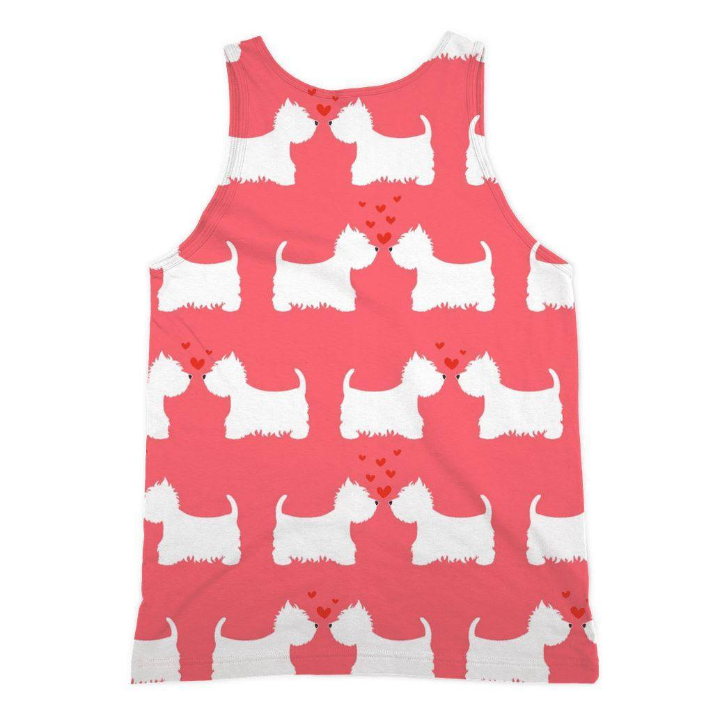 Westies in Love Coral Sublimation Vest Apparel kite.ly