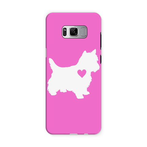 Image of Westie Heart Pink Phone Case
