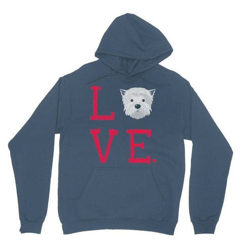LOVE Westie Hoodie Apparel kite.ly S Indigo Blue