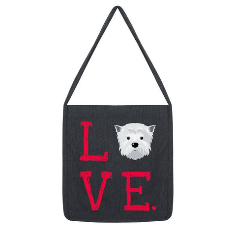 LOVE Westie Tote Bag Accessories kite.ly Melange Black