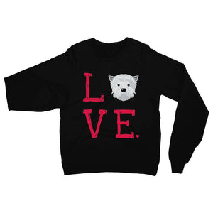 LOVE Westie Sweatshirt Apparel kite.ly S Black