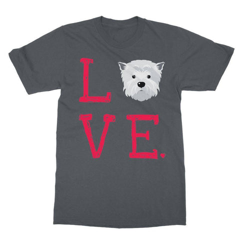 Image of LOVE Westie Tee Apparel kite.ly S Charcoal