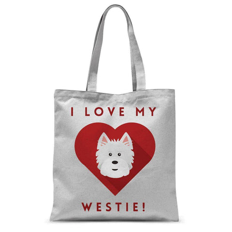 Image of I Love My Westie Tote Bag Accessories kite.ly