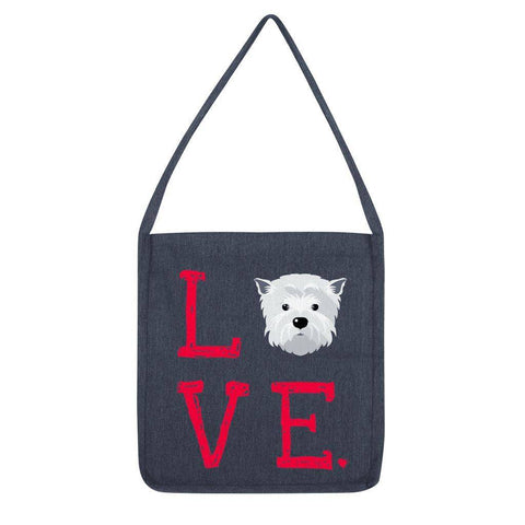 LOVE Westie Tote Bag Accessories kite.ly Melange Navy