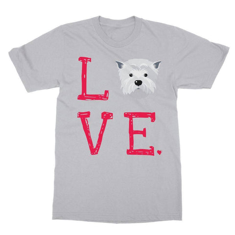 Image of LOVE Westie Tee Apparel kite.ly S Sports Grey