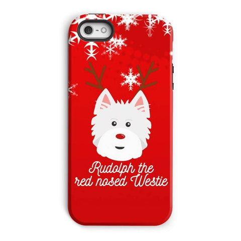 Image of Rudolph The Red Nosed Westie Phone Case Phone & Tablet Cases kite.ly iPhone 5/5s Tough Case Gloss