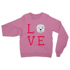 LOVE Westie Sweatshirt Apparel kite.ly S Safety Pink