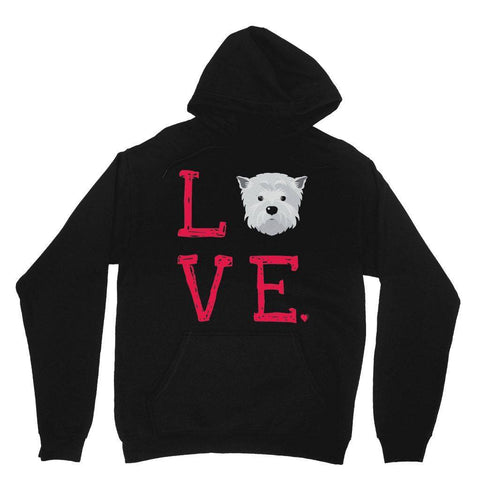 LOVE Westie Hoodie Apparel kite.ly XS Black