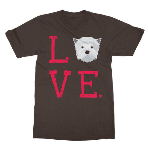 Image of LOVE Westie Tee Apparel kite.ly S Dark Chocolate