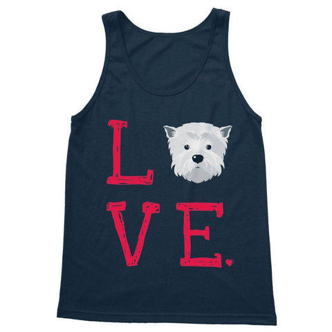 LOVE Westie Softstyle Tank Top Apparel kite.ly S Navy