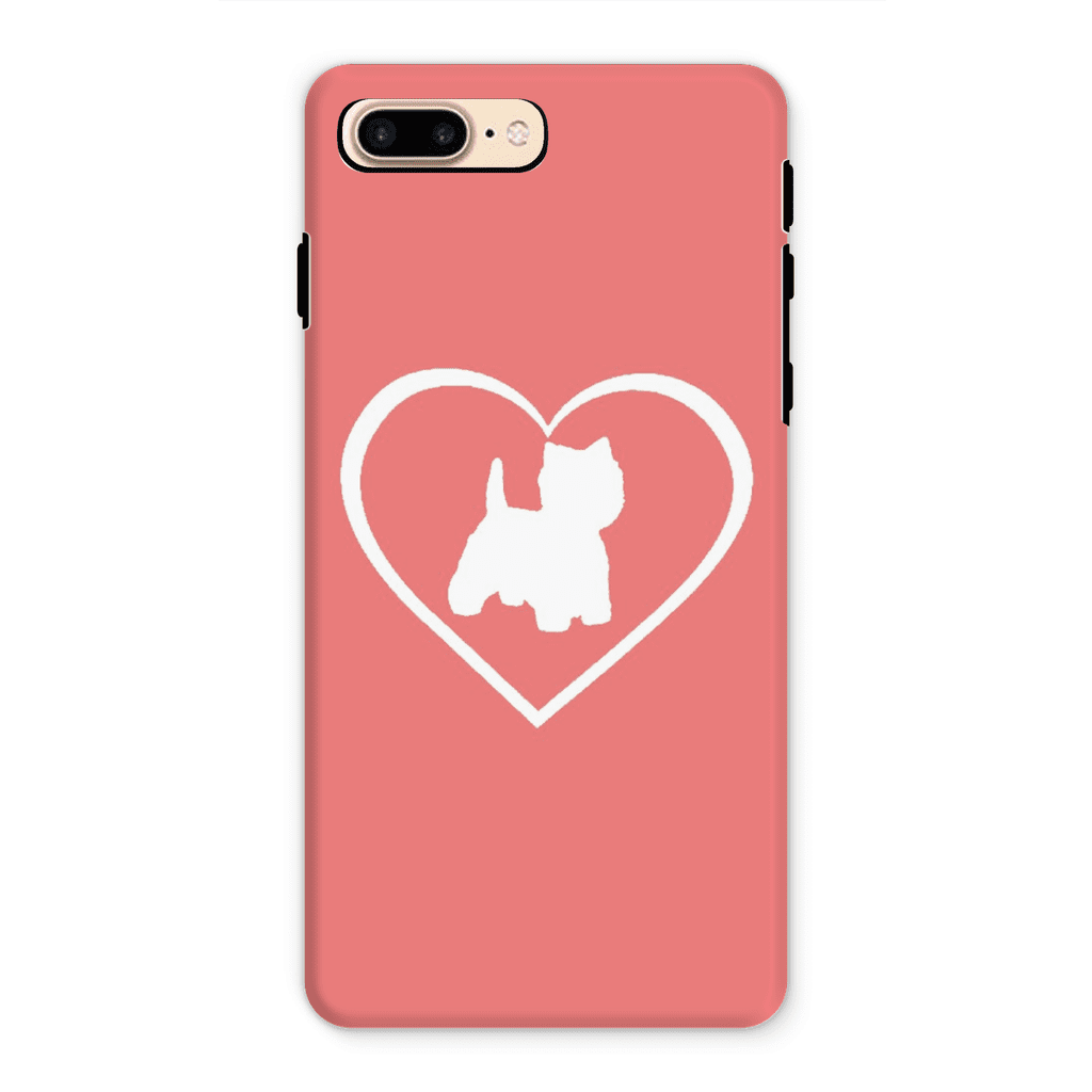Westie in a Heart Coral Phone Case