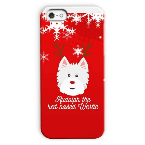 Image of Rudolph The Red Nosed Westie Phone Case Phone & Tablet Cases kite.ly iPhone 5c Snap Case Gloss