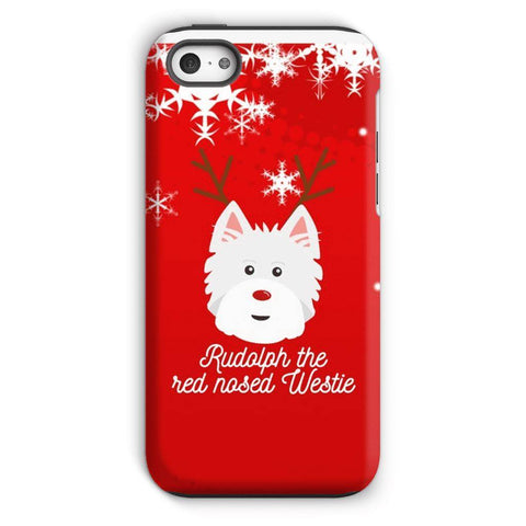 Image of Rudolph The Red Nosed Westie Phone Case Phone & Tablet Cases kite.ly iPhone 5c Tough Case Gloss