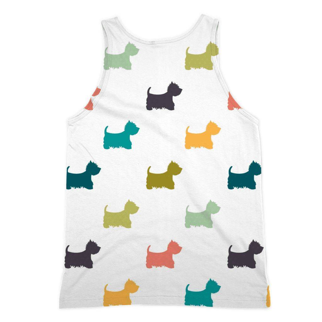 Coloured Westies Sublimation Vest Apparel kite.ly