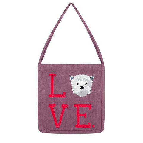 LOVE Westie Tote Bag Accessories kite.ly Melange Plum