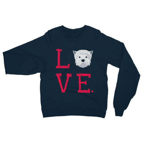 Image of LOVE Westie Sweatshirt Apparel kite.ly S Navy