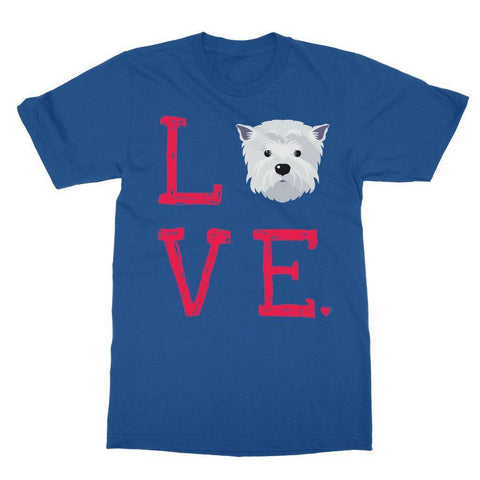 Image of LOVE Westie Tee Apparel kite.ly S Royal Blue