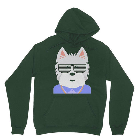 Image of West.I.am Hoodie Apparel kite.ly S Forest Green