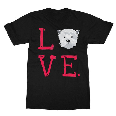 Image of LOVE Westie Tee Apparel kite.ly S Black
