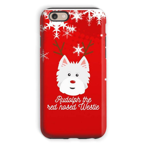 Image of Rudolph The Red Nosed Westie Phone Case Phone & Tablet Cases kite.ly iPhone 6s Tough Case Gloss