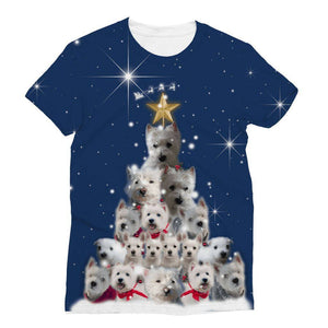 Westie Christmas Tree All Over Print Tshirt Apparel kite.ly S