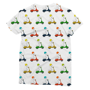 Motorcycling Westies Sublimation Tee Apparel kite.ly