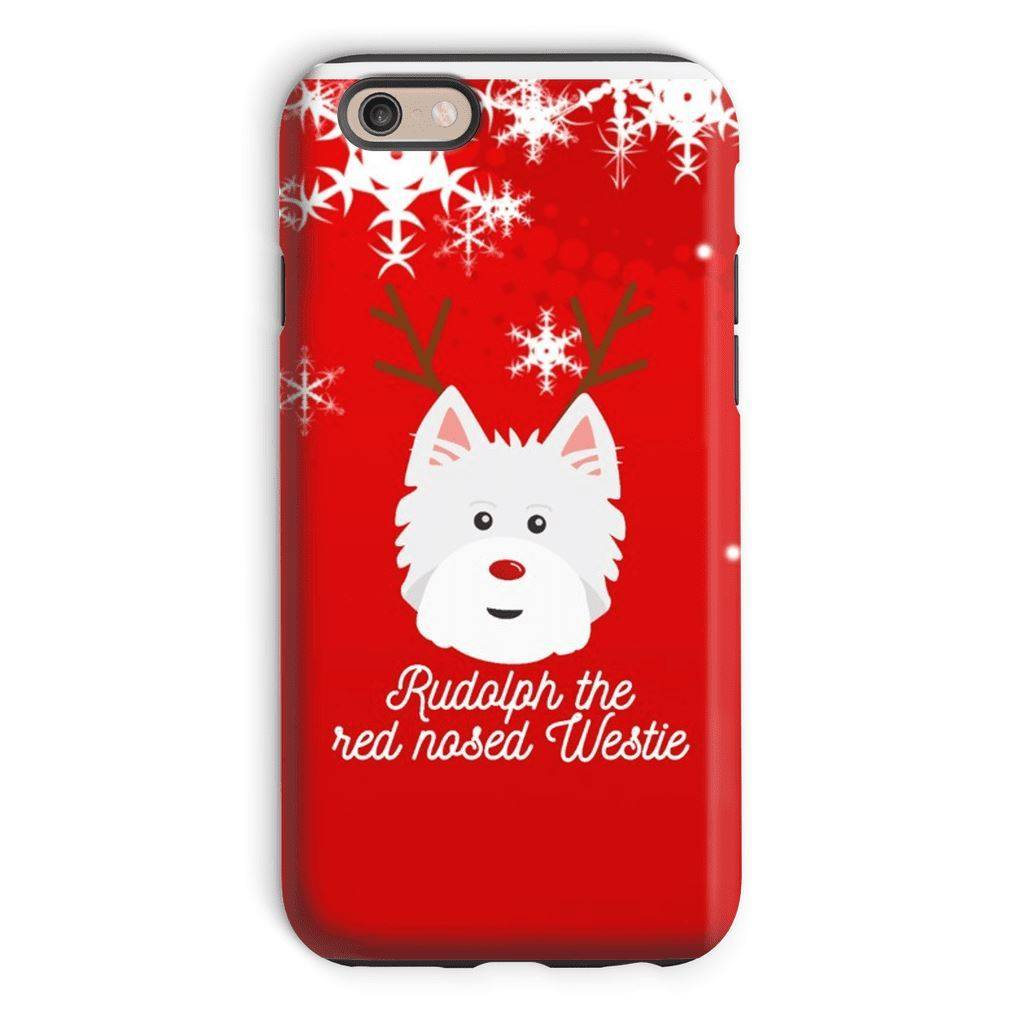 Rudolph The Red Nosed Westie Phone Case Phone & Tablet Cases kite.ly iPhone 6 Tough Case Gloss