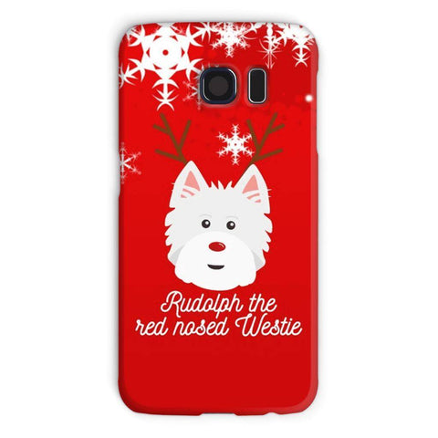 Image of Rudolph The Red Nosed Westie Phone Case Phone & Tablet Cases kite.ly Galaxy S6 Snap Case Gloss