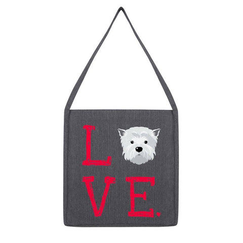 LOVE Westie Tote Bag Accessories kite.ly Melange Dark Heather
