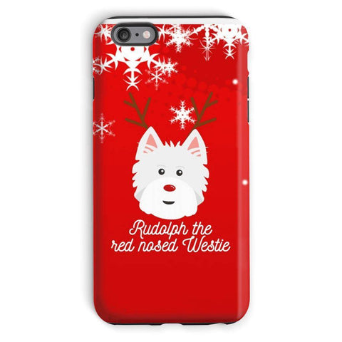 Image of Rudolph The Red Nosed Westie Phone Case Phone & Tablet Cases kite.ly iPhone 6s Plus Tough Case Gloss
