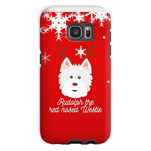 Image of Rudolph The Red Nosed Westie Phone Case Phone & Tablet Cases kite.ly Galaxy S7 Tough Case Gloss