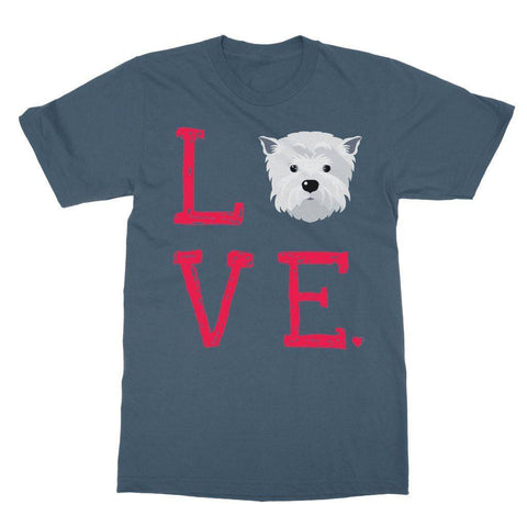 Image of LOVE Westie Tee Apparel kite.ly S Indigo Blue