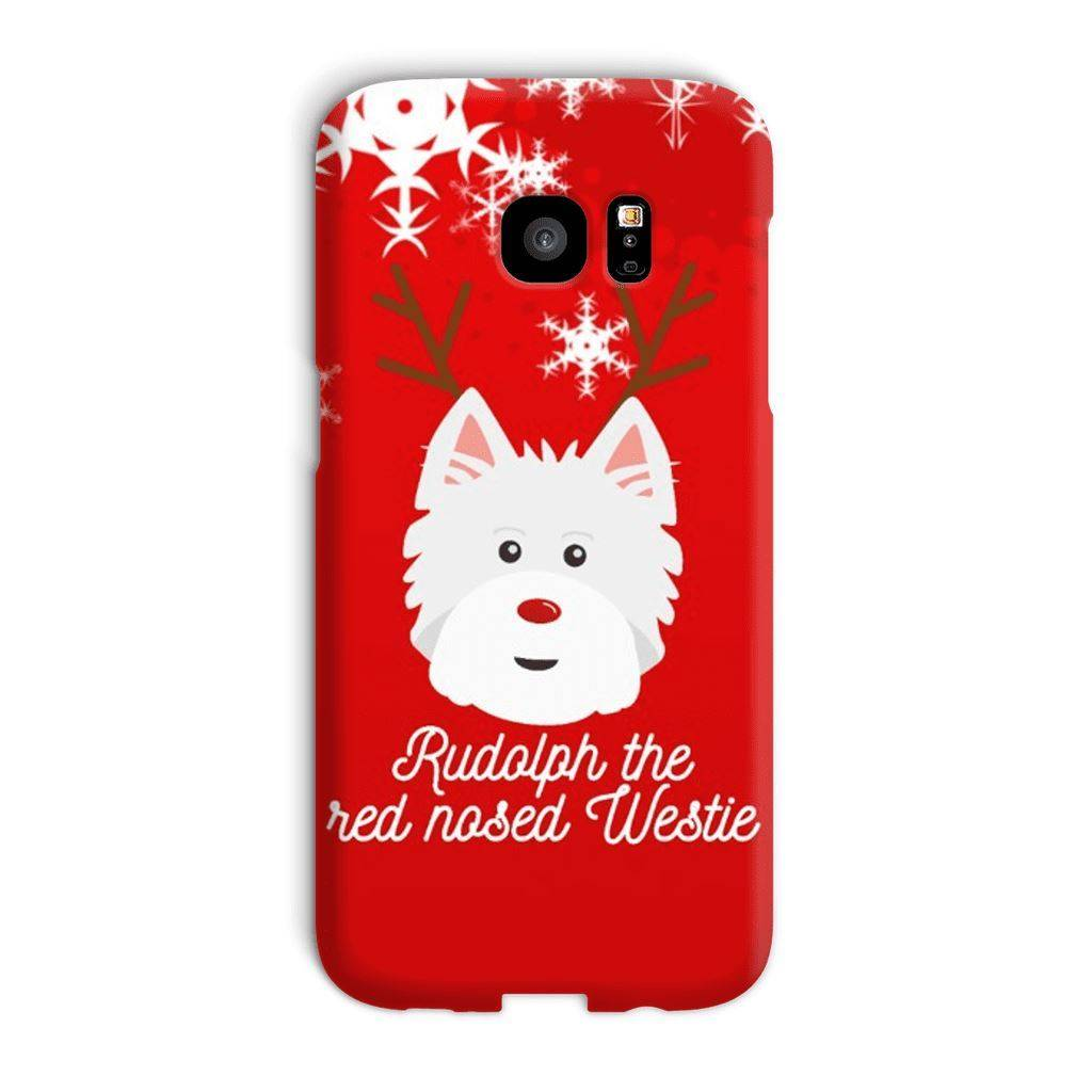 Rudolph The Red Nosed Westie Phone Case Phone & Tablet Cases kite.ly Galaxy S7 Edge Snap Case Gloss